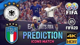 Germany vs Italy FIFA 20 Predicts ICONS Friendly Match