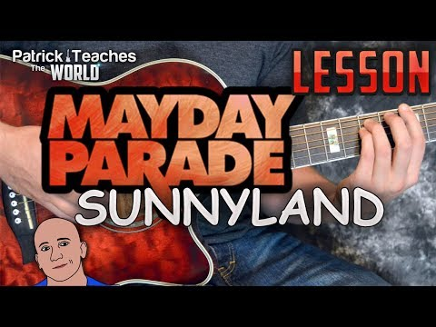 Mayday Parade-SunnyLand-Guitar Lesson-Tutorial-How to Play-Chords-Easy Songs