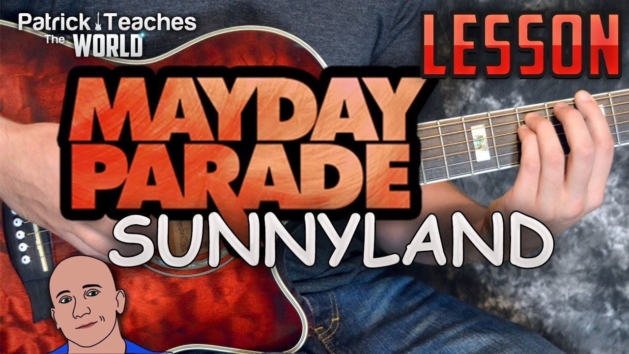 Mayday Parade Sunnyland Guitar Lesson Tutorial How To Play Chords