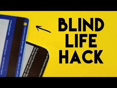 - The Blind Life Hack - Marking Your Credit Cards