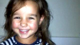 Marley sings Wielie-Walie, 3 years old