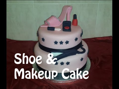 Shoe and Makeup Cake