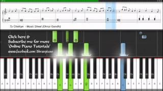 Tu Chahiye (Atif Aslam) Bajrangi Bhaijaan || Piano Tutorial/Lesson + Music Sheet + MIDI