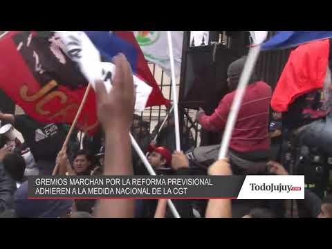 Así marchó el Frente Amplio Gremial contra la reforma frente a la Casa de Gobierno