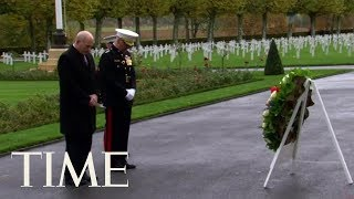 John Kelly Lays Wreath For WWI Fallen Soldiers At Aisne-Marne Cemetery On Behalf Of Trump | TIME