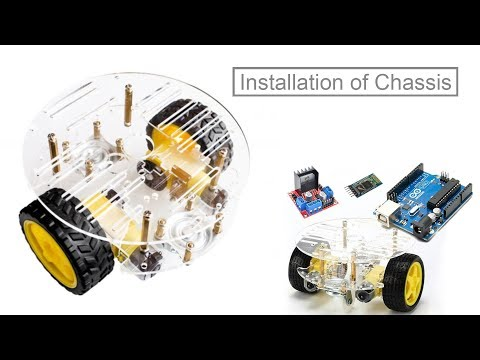 Self Balancing Round Shape Robot Car For Arduino Assemble Kit Tutorial Step By Step