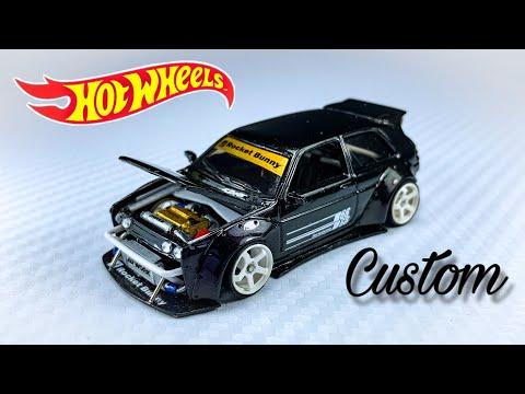 Volkswagen Golf MK2 Rocket Bunny Hot Wheels Custom