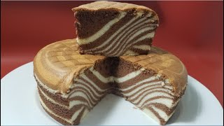 Bánh Bông Lan Ngựa Vằn - ZEBRA CAKE RECIPE