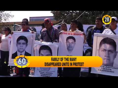 In 60 Seconds: Families of disappeared unit in protest
