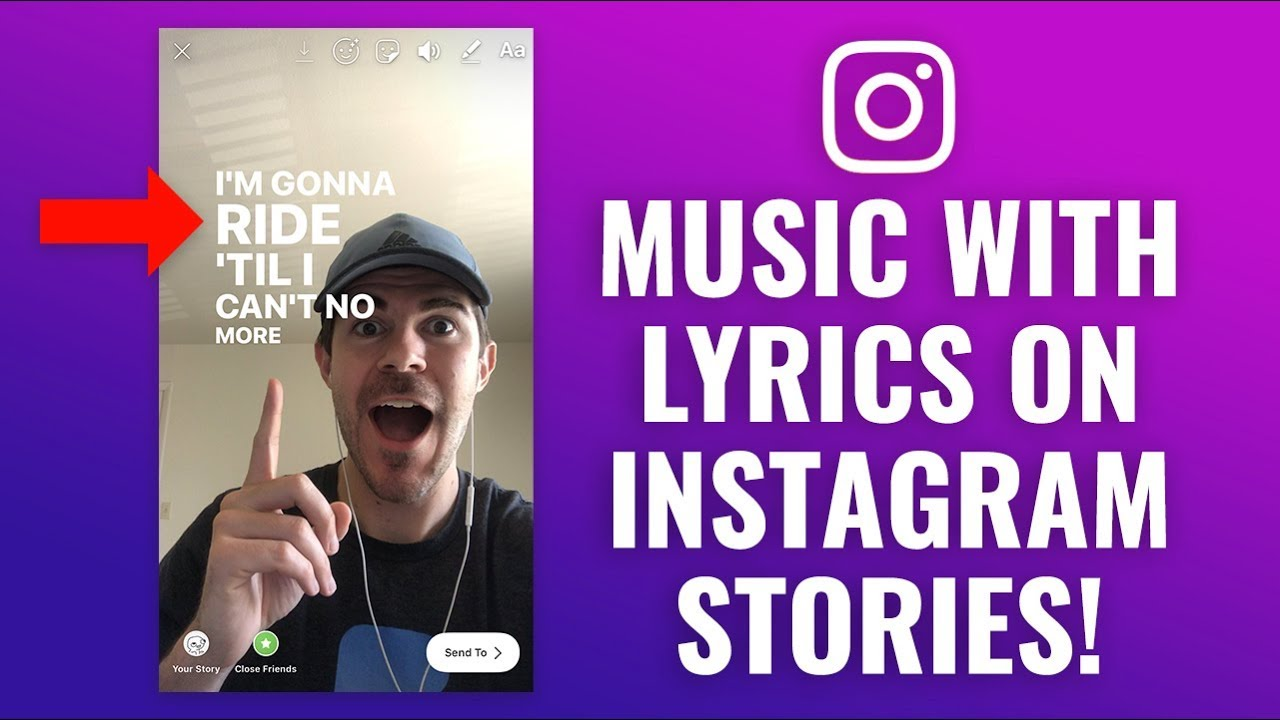 How to add Music & Song Lyrics to Instagram Stories