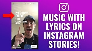 How To Add Music Song Lyrics To Instagram Stories Youtube