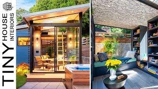 Amazing Tiny Backyard Retreat With Loft | Tiny House Interiors