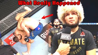 29-0!!! What Really Happened (Khabib Nurmagomedov vs Justin Gaethje)