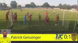 1. FC Bruchsal gegen VFB Gartenstadt Tor Patrick Geissinger