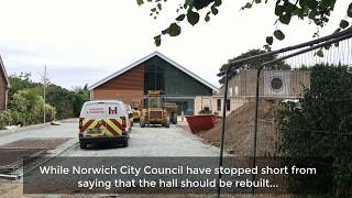 A church hall in Bowthorpe, Norwich has been built in the wrong place