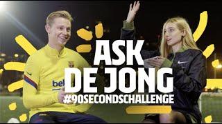 Griezmann's or Vidal's hair?? | FRENKIE DE JONG #90secondschallenge