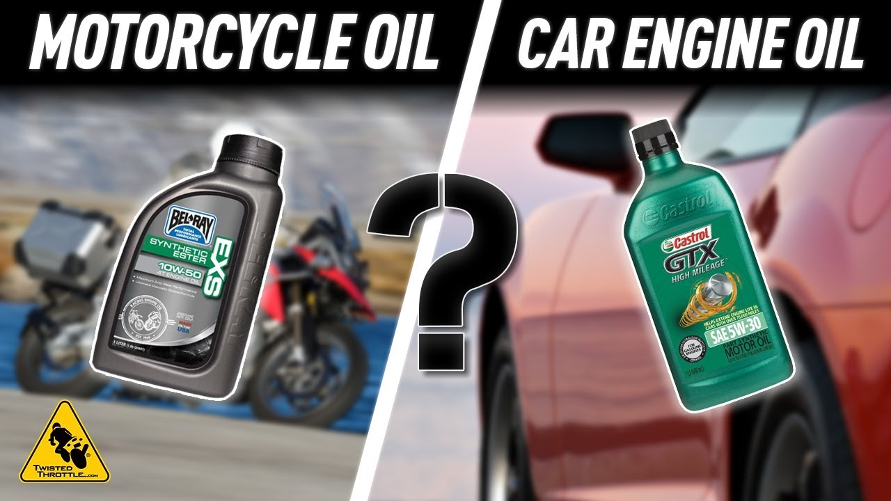 Motorcycle Oil Vs Car Oil What S The Difference