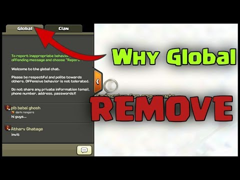 Global Chat Going To Remove | Go Into Global Chat ??| #clashofclans