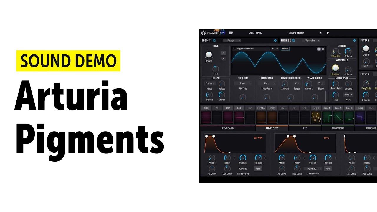 Arturia Pigments Sound Demo (no talking)