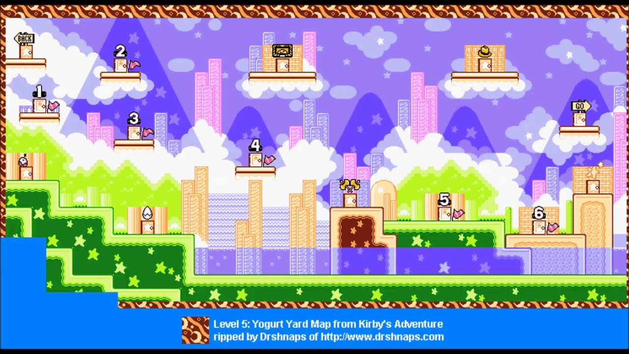 Greatest VGM 4437 Yogurt Yard Map Kirby Nightmare in Dreamland