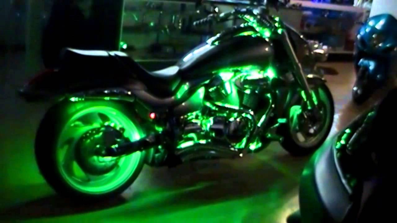 Motorcycle Led Kit >> Multi Color Motorcycle LED kit - YouTube