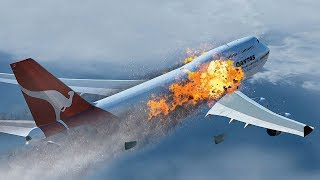 Panic After Takeoff as Boeing 747 Explodes at 29,000 feet | Qantas Flight 30