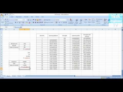 Using FV (Future Value) Formula in MS Excel