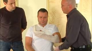 Fracture du bras ou dislocation de l'épaule