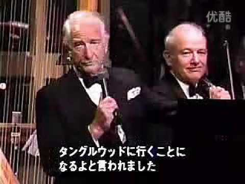 Victor Borge plays Wagner piece (?) celebrating for Leonard Bernstein's 70th birthday in Tanglewood