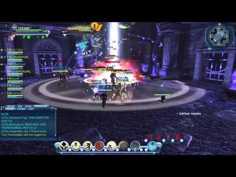 DCUO - Throne Elite Hades Boss Fight   League Run (Venganza)