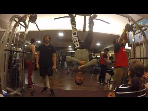Ravi Seth's Vlog 1056 Reverse Hanging Abdominal crunch with Gravity Boots
