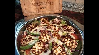Салат с жаренным адыгейским сыром и йогуртовой заправкой: рецепт от Foodman.club