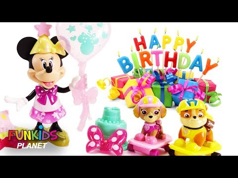 Paw Patrol Have Surprise Toy Disney Birthday Party for Minnie Mouse