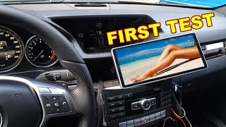 First Test Power On Android DVD Radio GPS Navigation (COMAND AUDIO) for Mercedes E-Class W212