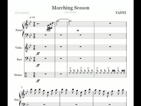 Yanni - Marching Season - Noteflight