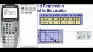 Compute Correlation Coefficient and Graph Linear Regression Line w/TI-83/84