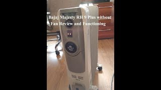 Bajaj Majesty RH 9 Plus without Fan Review and Functioning