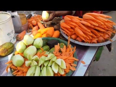 Lovely Cucumber & Carrot Rose Flower Design Traditional Farm Fresh Food -Fruit & Vegetable Carving