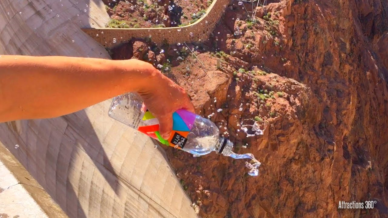 Floating Water at Hoover Dam - Water Pours Up instead of Down - Water  Bottle Experiment