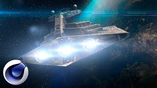 Сцена в стиле Star Wars в Cinema 4D