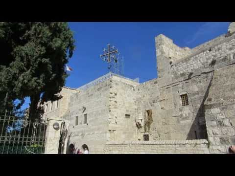 The sound of the Church of the Nativity bells, Bethlehem. To