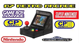 A7 Retro Arcade Mini 520 in 1 SNES,GBA,NES,CPS1&SEGA