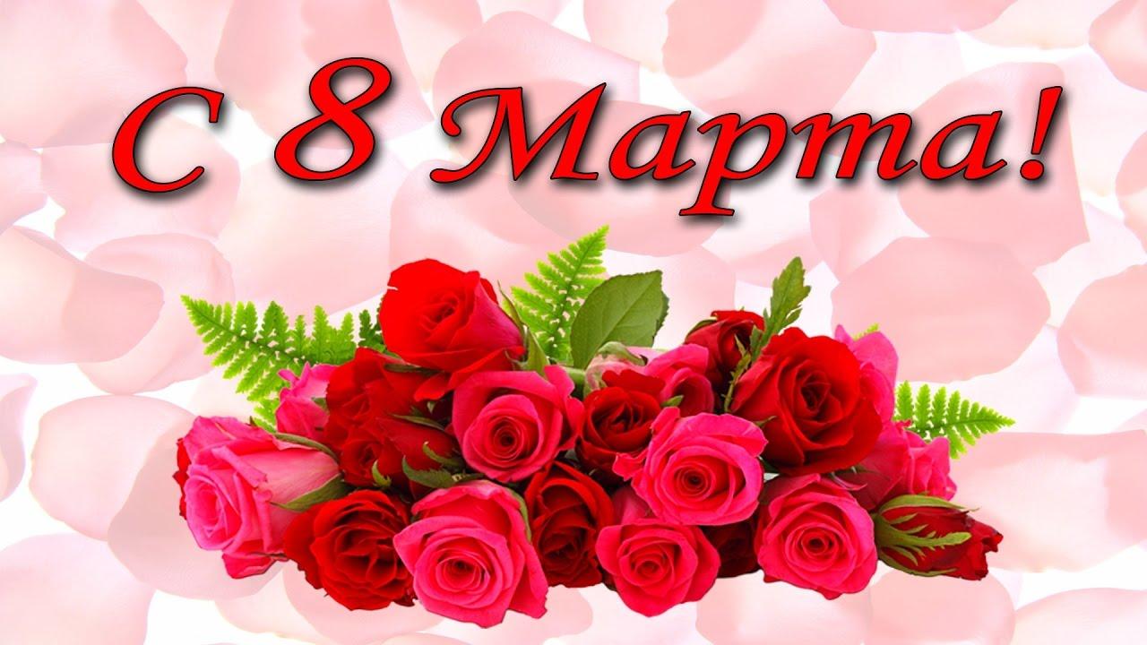 поздравления с 8 марта видео открытки