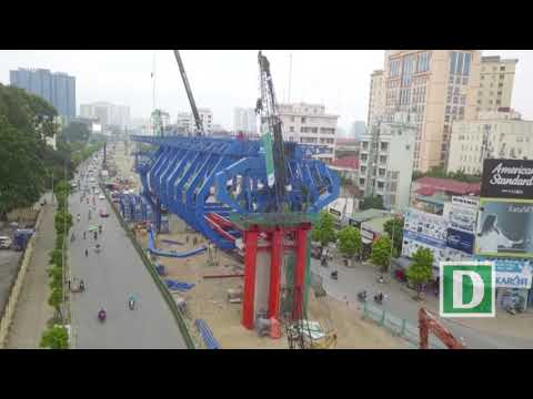 Construction of Hanoi's second elevated inner ring expressway 2018