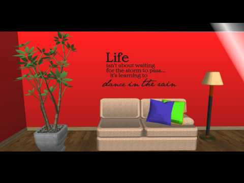Life isn't waiting for the storm to pass it's learning to dance in the rain wall decal