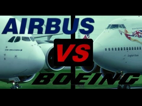 "Boeing 747 ""Jumbo Jet"" vs. Airbus A380 ""SuperJumbo"" (Full HD1080p)"