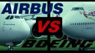 "Boeing 747 ""Jumbo Jet"" vs. Airbus A380 ""SuperJumbo"" (Full HD1080p)"