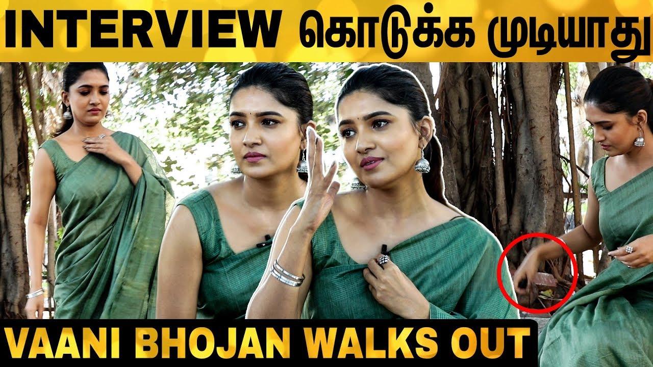 Download சினிமால Adjustments-க்கு ஒத்துப்பீங்களா? Vani Bhojan Walks Out Angrily   Oh My Kadavuley