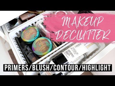 MAKEUP DECLUTTER 2018 | Primers, Blushes, Contours, Highlights