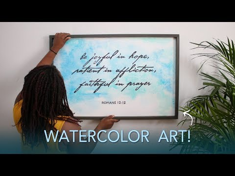 DIY Hand Painted Sign   Watercolor Painting